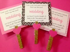 Bridal Shower clothespin game!