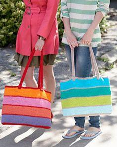 Free Crochet Pattern: Market Tote Bag  by Lily / Sugar'n Cream