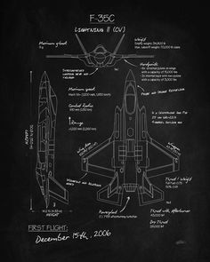 Military Jets, Military Aircraft, Fighter Aircraft, Fighter Jets, Blueprint Art, Blueprint Drawing, Airplane Mechanic, Plane Drawing, Bomber Plane