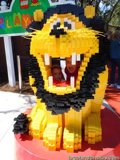 Watch out for this Legoland lion, located in an open play area for the little ones.