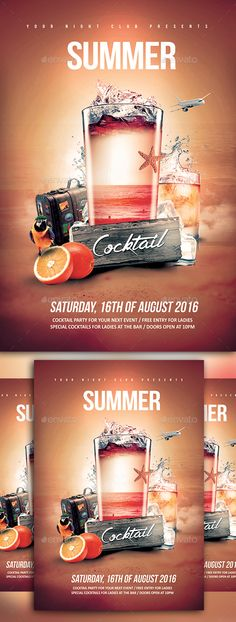 Buy Summer Cocktail by YczCreative on GraphicRiver. Summer Cocktail – Flyer The best party in town for your next event Special designed for your ocasion Characteristics:. Coktail Party, Menu Design, Flyer Design, Cocktail Menu, Vodka Cocktail, Ladies Bar, Smoothie Menu, Raspberry Cocktail, Restaurant Poster