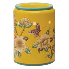 The splendor of spring comes alive with butterflies and blossoms inspired by vintage Chinese silk. Softly glowing porcelain.