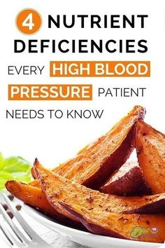 Nutrient deficiencies with high blood pressure