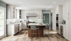 White Shaker Kitchen Cabinets, Rta Kitchen Cabinets, White Bathroom Cabinets, White Cabinets, Timeless Kitchen Cabinets, Lily Ann Cabinets, Ready To Assemble Cabinets, Kitchen Photos, Colorado