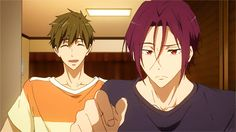 Free! ES ~~ Even though he's the captain of the other team, Rin looks out for the Iwatobi underclassmen, too. :: Makoto, Rin, Nagisa, and Rei