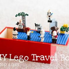 Travel LEGO  Box DIY {Toy Storage} from Tip Junkie.  Link to Tutorial not found.  Cute Idea though.