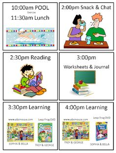 """Summer Schedule for your kids at home!  How to keep them occupied!!!!  Everyday is a """"Hollyday""""!:"""