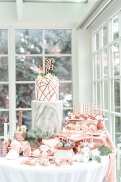pastel and watercolour wedding cake and table