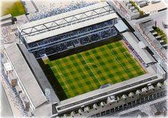 Filbert Street(Leicester City) @ sportsstadiaart.com