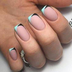 Nail Design models French nails Source by Promisjetzt Short Nail Designs, Cool Nail Designs, French Nail Designs, Nail Design For Short Nails, Striped Nail Designs, Striped Nails, Perfect Nails, Gorgeous Nails, Cute Nails