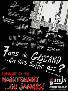 Mitterrand, Parti Socialiste, France, 1981 (poster produced by the young socialist movement for the second round of elections)