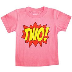 Happy Family Clothing Little Girls Superhero Second Birthday TShirt 23 T Hot Pink * Check out the image by visiting the link. (This is an affiliate link) #BabyGirlTops