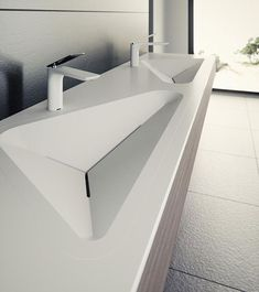 The latest in Le Projets lineup of refined architectural finishes, the Monolit basin series brings geometric style to the modern bathroom. Designer: Alex Vitet of le_projet_brandFrom yankodesign For more lordd_products . Washroom Design, Bathroom Interior Design, Yanko Design, Toilette Design, Lavabo Design, Modern House Design, Modern Bathroom, Bathroom Ideas, Interior Architecture