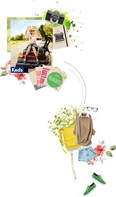 """Fall Hard for Keds: green!"" by cicijolee ❤ liked on Polyvore"
