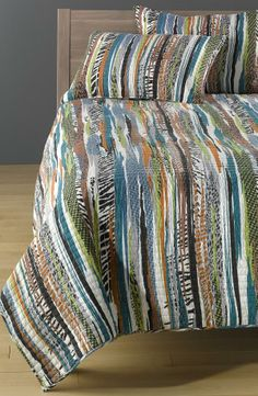Mixed print cotton quilt.