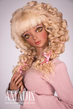 Sugar love natural Leicester sheep wig for bjd SD by AmadizStudio