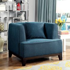 Furniture of America Emmette Modern Tuxedo Style Arm Chair
