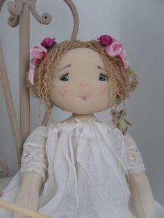 SAM_1472 Dolls Dolls, Rag Dolls, Non Non, Chiffons, Handmade Dolls, Making Ideas, Doll Clothes, Bears, Shabby Chic
