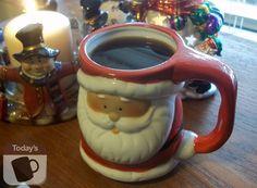 My Santa head coffee mug.