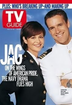 TV Guide July 2002 (Catherine Bell and David James Elliott of JAG: On the Wings of American Pride, The Navy Drama Flies High; 80 Tv Shows, Great Tv Shows, American Pride, American Actors, David James Elliott, Queens Of Comedy, Lisa, Detective Shows, Ncis New