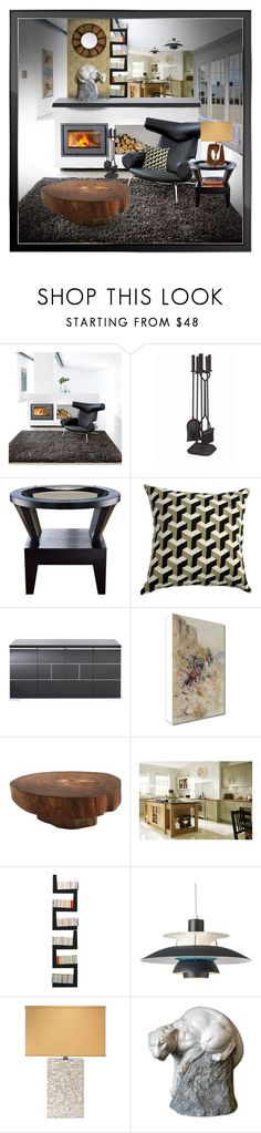 """""""Cougar in the room"""" by brooksie1920 ❤ liked on Polyvore featuring interior, interiors, interior design, home, home decor, interior decorating, Linie Design, Minuteman, Kylie & Kennedy and Mitchell Gold + Bob Williams"""