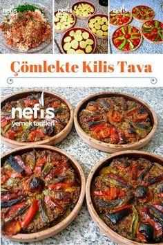 How to make Kilis Tava Recipe in Pottery? The defi -Çömlekte Kilis Tava Tar Iftar, Meat Recipes, Slow Cooker Recipes, Turkish Recipes, Ethnic Recipes, Wie Macht Man, Homemade Beauty Products, Ratatouille, Tasty Dishes