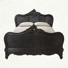 Vivaldi Queen Bed in Black   Arhaus Furniture