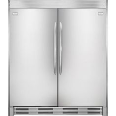 Frigidaire Professional 66 Inch Side by Side Refrigerator and Freezer Set with 32 Inch Right Hinge Refrigerator, 32 Inch Left Hinge Freezer and Trim Kit in Stinless Steel Frigidaire Gallery Refrigerator, Side By Side Refrigerator, Stainless Steel Refrigerator, Upright Freezer, Kitchen Appliances, Kitchen Cabinets, Kitchen Ideas, Houses, Kitchens