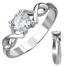 Anillo de compromiso amor infinito oro blanco de 10 k