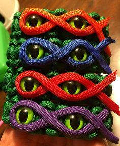Teenage Mutant Ninja tortugas brazalete de por KnotKreations