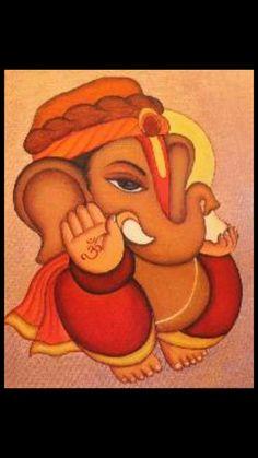 Ganesha Drawing, Lord Ganesha Paintings, Ganesha Art, Krishna Art, Krishna Tattoo, Jai Ganesh, Ganesh Idol, Colorful Rangoli Designs, Rangoli Designs Diwali