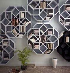 These bookshelves are rad.