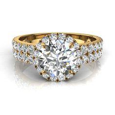 Bague de fiançailles solitaire bague diamant rond pour femme 1.20 carats or jaune Portofino  #diamants #SolitaireBagueDiamant #BagueDiamant #OrJaune #capucine #PendentifDiamant #PendentifDiamantPrincesseAura #SolitaireDiamant #OrBlanc #CamogliEmeraude