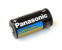 50 pcs Panasonic CR123A 3V Photo Lithium Batteries by Panasonic. $67.50. Features and Benefits   * CR123A equivalent  * Panasonic's CR123A photo lithium batteries provide the power source most used in today's cameras and high power flashlights. Lightweight and durable these batteries perform well in extreme temperatures from -40 to 140 degress F.  * Panasonic makes many of the CR123A 'brands' you already know including Surefire, Streamlight and many others. Perhaps the best CR12...
