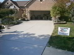 Decorative Concrete Resurfacing on Driveway in Westerville, Ohio