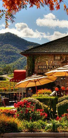 Napa Valley Marketplace-interesting shops and Bottega Restaurant.