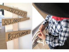 wild west direction sign {cowboy party}