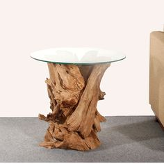 79682aa768d8 Beautiful twists of reclaimed teak root gives this lovely side table an  individual appearance.Topped