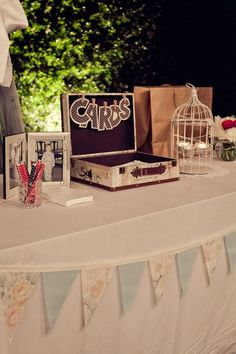 Do It Yourself! Look for vintage style knick knacks that you can use in your wedding decorations.
