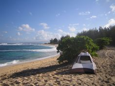Beach Camping For more great camping info go to http://CampDotCom.Com #camping #campinghacks #campingfun