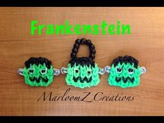 Rainbow Loom Frankenstein: Halloween