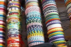 Friendship bracelet patterns galore