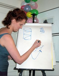 Play Pictionary with words belonging to the theme of baby shower, wedding shower, lingerie shower, etc.