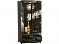 Expositor/Cervejeira Vertical 2 Portas 760L - Frost Free Gelopar GRBA-760B