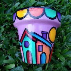 Painted Flower Pots, Cherry Tree, Projects To Try, Lunch Box, Diy Crafts, Pottery, Painting, Design, Cement Planters