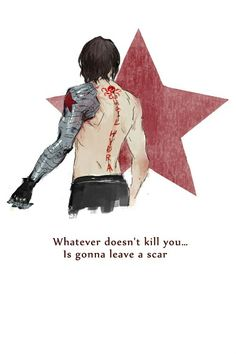 Winter Soldier- Yeah cause 70 years of hell is going to leave one fuck of a scar. That is not going to magically disappear.