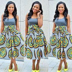 african print high waist skirts - Google Search