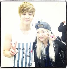 Dara Instagram: with my baby brother #thunder #mblaq