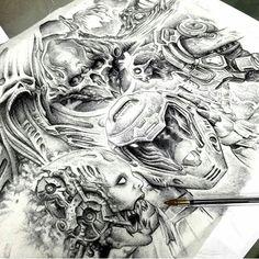 Amazing Doom fan art by . Star Citizen, Doom Demons, Insta Instagram, Instagram Posts, Evil Tattoos, Demon Tattoo, Black White Art, Amazing Art, Awesome