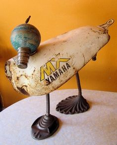 scrapyard duck ~ assemblage art ~ Cat Bishop